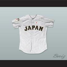 Shohei Ohtani 16 Japan Samurai White Pinstriped Baseball Jersey
