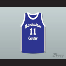 Rapper Cameron Giles 11 Manhattan Center Rams Blue Basketball Jersey