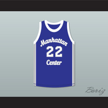 Rapper Mason 'Mase' Betha 22 Manhattan Center Rams Blue Basketball Jersey
