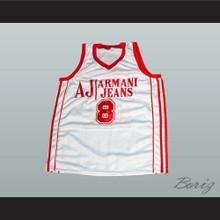 Danilo Gallinari 8 Milano Basketball Jersey New