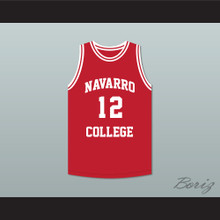 Rapper Cameron Giles 'Dipset' 12 Navarro College Red Basketball Jersey