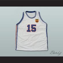 Mirza Delibasic Yugoslavia Basketball Jersey European