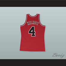 Johnny Kilroy 4 Pro Career Red Basketball Jersey