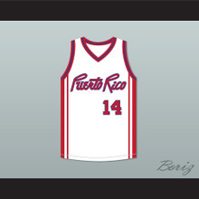 Benny Dalmau 14 Puerto Rico Basketball Jersey Basquiat