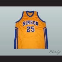 Derrick Rose Simeon High School Basketball Jersey Yellow