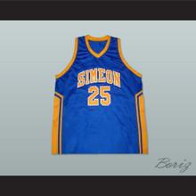 Derrick Rose Simeon High School Basketball Jersey Blue