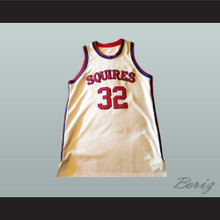 Julius Erving Dr.J 32 Virginia Squires Basketball Jersey Stitch Sewn