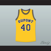 Randy Moss 40 Dupont High School Panthers Basketball Jersey Yellow Any Player or Number