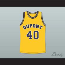 Randy Moss 40 Dupont High School Panthers Basketball Jersey Yellow