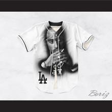 Tupac Shakur Makaveli 13 Los Angeles White Baseball Jersey