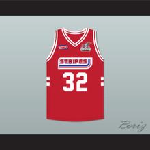Jermaine Dupri 32 Stripes Basketball Jersey Rock N' Jock All Star Jam 2002