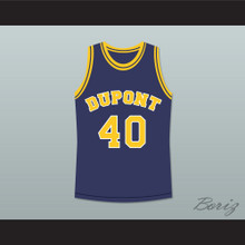 Randy Moss 40 Dupont High School Panthers Basketball Jersey Blue