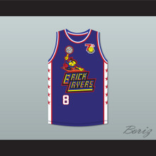 David Arquette 8 Bricklayers Basketball Jersey 7th Annual Rock N' Jock B-Ball Jam 1997