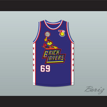 Flea 69 Bricklayers Basketball Jersey 7th Annual Rock N' Jock B-Ball Jam 1997