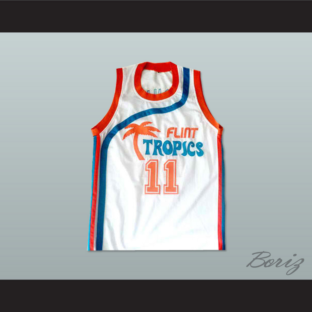 a4104a70fcc Flint Tropics 11 Ed Monix Basketball Jersey Semi Pro Team