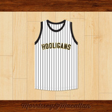 Bruno Mars XXIV K Hooligans Pinstriped Basketball Jersey by Morrissey&Macallan