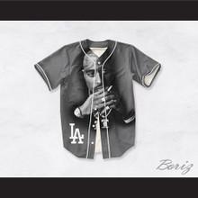 Tupac Shakur Makaveli 13 Los Angeles Gray Baseball Jersey