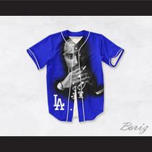 Tupac Shakur Makaveli 13 Los Angeles Blue Baseball Jersey