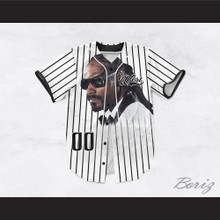Snoop Dogg 00 Westside Pinstriped White Baseball Jersey