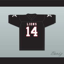 De'Andre Johnson 14 EMCC Lions Black Football Jersey Includes Patches