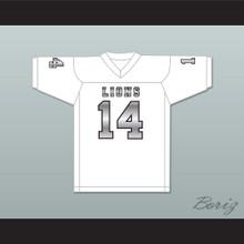 De'Andre Johnson 14 EMCC Lions White Alternate Football Jersey