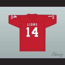 De'Andre Johnson 14 EMCC Lions Red Alternate Football Jersey