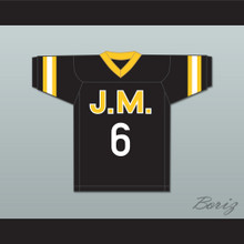 Biggie Smalls 'Poppa' 6 Junior M.A.F.I.A. Black Football Jersey