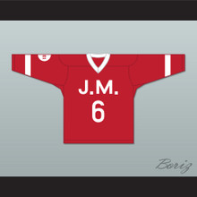 The Notorious B.I.G. 'Poppa' 6 Junior M.A.F.I.A. Red Hockey Jersey