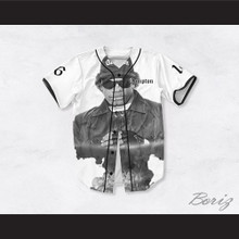 Eazy-E 16 Compton White Baseball Jersey