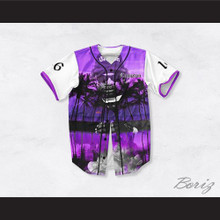 Eazy-E 16 Compton Purple California Baseball Jersey