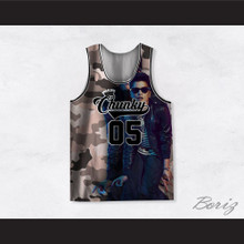 Bruno Mars 05 Chunky Beige Camouflage Basketball Jersey
