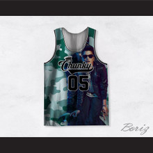 Bruno Mars 05 Chunky Green Camouflage Basketball Jersey