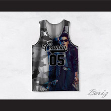 Bruno Mars 05 Chunky Gray Camouflage Basketball Jersey