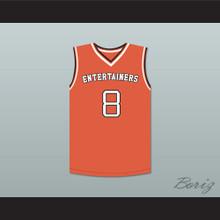"""Kobe Bryant 8 """"Black Mamba"""" Rucker Park Basketball Jersey Stitch Sewn"""