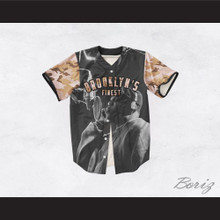 Biggie Smalls 21 Tan Camouflage Brooklyn's Finest Baseball Jersey
