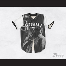 Biggie Smalls 21 White Sleeve Brooklyn's Finest Baseball Jersey