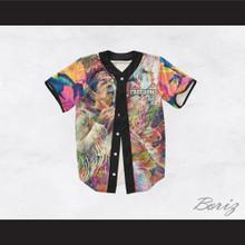 Jimi Hendrix 27 Flower Sleeve Freedom Design Baseball Jersey