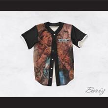 Jimi Hendrix 27 Black Sleeve Freedom Design Baseball Jersey