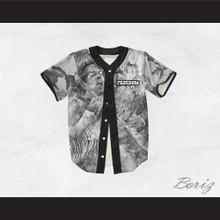 Jimi Hendrix 27 Black and White Freedom Design Baseball Jersey