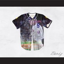 Roy Hobbs 9 New York Knights Stadium Theme Design Baseball Jersey The Natural