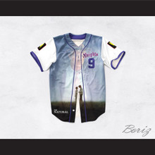 Roy Hobbs 9 New York Knights Love Scene Design Baseball Jersey The Natural