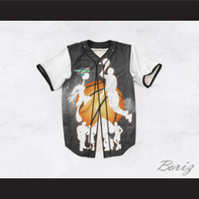 Space Jam 15 Silhouettes Design Baseball Jersey