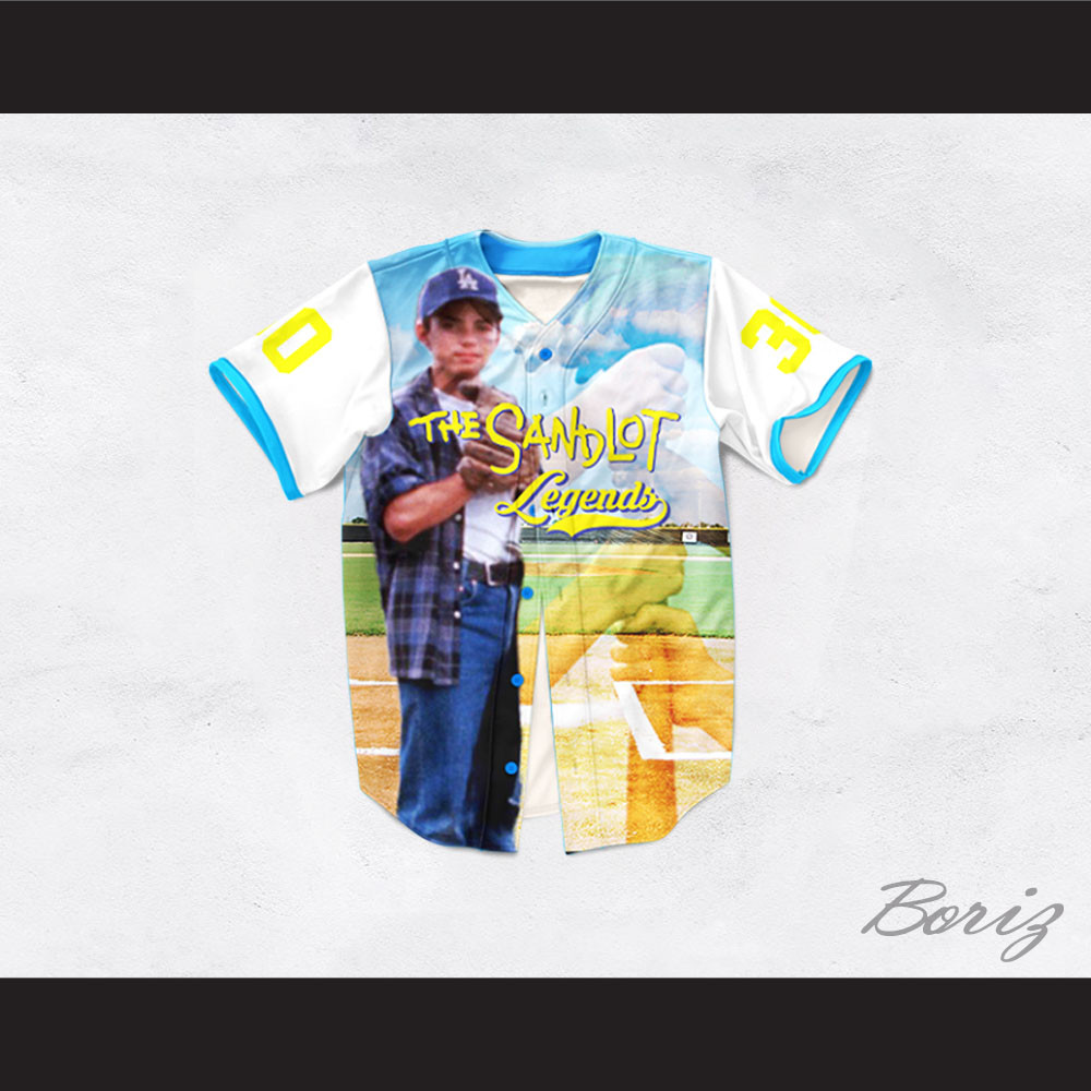Benny Rodriguez 30 The Sandlot Legends Baseball Jersey. Price   62.99.  Image 1 ac7a632c4
