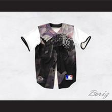 Tupac Shakur 13 Los Angeles Purple Camouflage Baseball Jersey