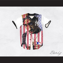 Tupac Shakur 13 New York American Flag Baseball Jersey