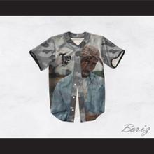 Tupac Shakur 13 Thug Life Gray Camouflage Baseball Jersey