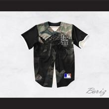 Tupac Shakur 13 Los Angeles Green Camouflage Baseball Jersey