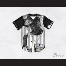 Tupac Shakur 13 New York Black and White American Flag Baseball Jersey