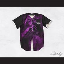 Tupac Shakur 13 Black and Purple Baseball Jersey