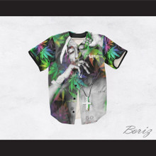 Tupac Shakur 13 Rainbow Cannabis Baseball Jersey